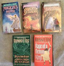 Raymond Feist 5 Book Lot Various With 3 Riftwar Novels