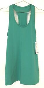 Athlete Shanti Tank Racer Back Jade Green Medium M
