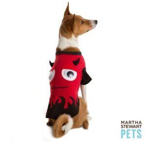 NWT Martha Stewart Pets Red Devil Dog Pet Halloween Costume Extra Small XS
