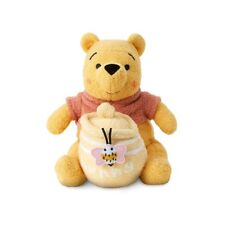 DISNEY STORE CUTE WINNIE THE POOH WITH ATTACHED HUNNY JAR RATTLE PLUSH FOR BABY