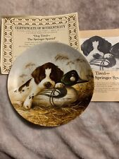 Dog Tired by Lynn Kaatz The Springer Spaniel Dog Collectors Plate