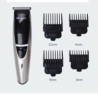 Groomer Trimmer Hairdressing Kits Silver Man Adjustable Haircutting Hair Clipper