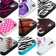For iPod Touch 5th & 6th & 7th Gen - Hybrid HARD & SOFT Armor Case Cover Skin