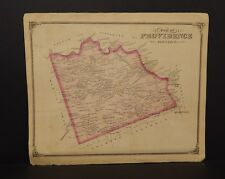 Pennsylvania Lancaster County Map Providence Township 1875 Dbl Side Y15#26