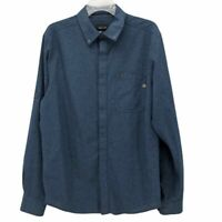 Marmot Mens Oxford Shirt Blue Denim Long Sleeve Button Down Collar Pocket M