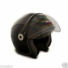 D09101612 VCAN DOT Flip Up Shield Open Face Helmet Frontiercycle XS Black