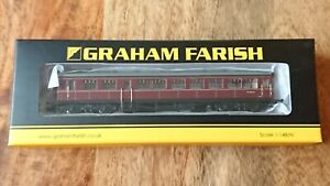 Graham Farish N Gauge 374-611 BR Auto Trailer Coach Maroon NEW