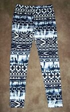 LEGGINGS FLEECE LINED WOMEN'S BLACK/WHITE ASSORTED SIZES NEW WITH TAGS FREE SHIP