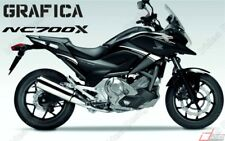 ADESIVI DECAL STICKERS HONDA NC700X NC 700 X RACIN CARENA GRAFICA BIANCO ARGENT