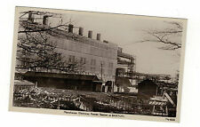 MANCHESTER ELECTRICAL POWER STATION, BARTON. OLD REAL PHOTO POSTCARD