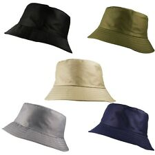 UNISEX CLASSIC PLAIN BUCKET BUSH FISHERMAN BOONIE SUN HAT CAP