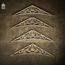 More details for set of 4 19th c decorative cast iron greenhouse brackets
