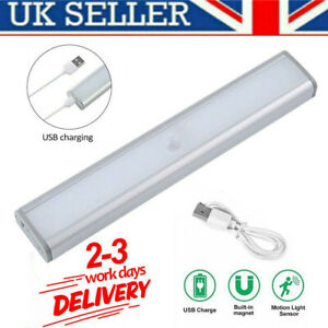 LED PIR Closet Light Motion Sensor Rechargeable USB Wireless Strip Cabinet Lamp