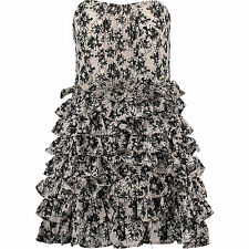 New Miss Sixty Floral Frill Dress Size S RRP £118