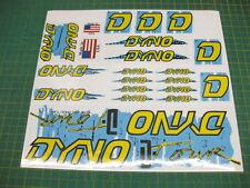 Set of Dyno D Tour BMX stickers Blue, yellow & Black