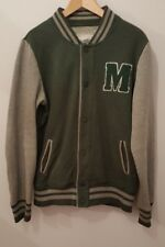 Mens Primark Studded Fastening Jacket Green/Grey Size S<MP1373