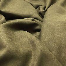Smoky Brown MICROSUEDE Fabric 1/4 yard remnant