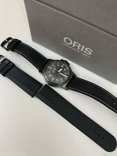 ORIS BC3 42MM GREY CASE DAY/DATE RUBBER STRAP