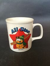 GARFIELD the Cat All Star Coffee Cup Mug 1978 SKIING Jim Davis- Vintage  Euc-