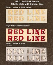Redline Fork Decals - Rub-On Decals, Choose from 6 styles, choice Color, 1 Pair