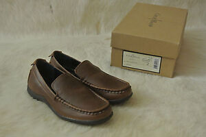 NIB Boys Cole Haan Air Tucker Brown Loafer Slip On Shoes Size US 2