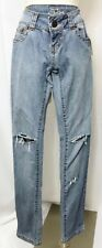 Fusion Jeans Stretch Skinny Straight Leg Destroyed Distressed Junior size 1