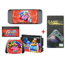 Kirby Vinyl Decal Cover Skin Stickers for Nintendo Switch w/ Screen Protector
