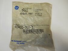 ALLEN BRADLEY 40430-300-51 FACTORY CONTACT KIT 1 POLE NEW CONDITION IN PACKAGE