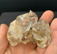 116 g Herkimer Diamond Cluster, Water Clear Gems, Light Smoky Color, Golden Heal