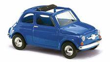 Busch 48724 - 1/87 / H0 Fiat 500 - Blau - Neu