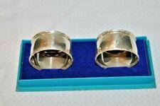 Stunning, Birks, Sterling Silver, Napkin Ring Set, With Original Box