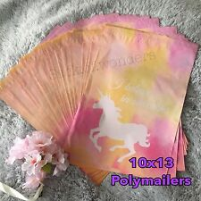 30 Designer Printed Poly Mailers 10X13 Shipping Envelopes Bags Unicorn