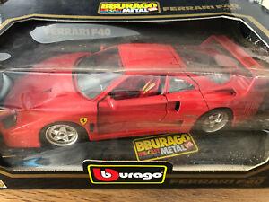 Modellauto 1:18 Ferrari F40 (1987) rot 3032 Bburago mit OVP