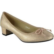 Womens Ladies Low Mid Heel Bow Comfy Office Work Casual Court Shoes Size UK 7 / EU 40 / US 9 Pink
