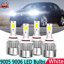 9005 9006 144W White Led Headlight Hi/Low Beam Bulbs For Dodge Avenger 2008 2009 (Fits: Dodge Avenger)