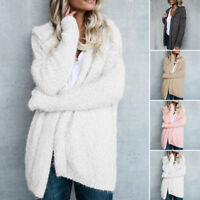 Fashion Womens Long Sleeve Ladies Knitted Sweater Jumper Cardigan Outwear Coat