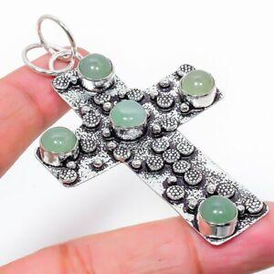 "Aquamarine Gemstone Handmade 925 Sterling Silver Jewelry Pendant 2.76"" p438"