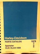 1954-1978   Harley-Davidson  Parts Catalog  Sportster  XLH /XLCH-1000