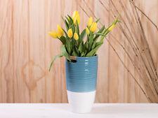 """BÚCARO"""" Ella """"Azul 24 cm, florero cerámica blanco, escandinava Decoración"""