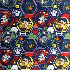 Paw patrol cartoon cotton fabric , by FQ , 18