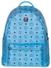 100% AUTHENTIC NEW MCM STARK SIDE STUD MEDIUM BLUE DENIM BACKPACK BAG
