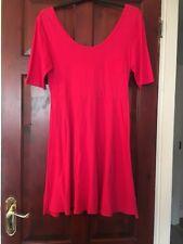 Forever 21 Bright Fuchsia Cotton Skater Dress In Large 12/14