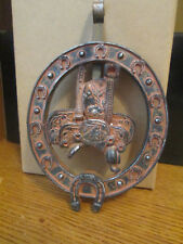 Cowboy Saddle Horseshoe Distressed Hook Western Wall Decor By Rainbow Dallas NIB