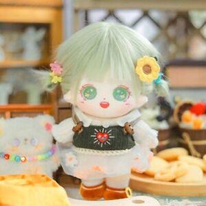 Original Hand-Made Short Plush 20cm Green Hair Doll Cute Toys