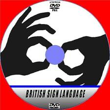 BRITISH SIGN LANGUAGE HAND SIGNING LESSONS DVD NEW SIMPLE TO LEARN BSL GUIDE