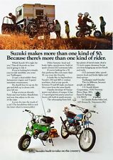 1973 SUZUKI MT-50K TRAILHOPPER TS-50K GAUCHO SALES AD/ BROCHURE
