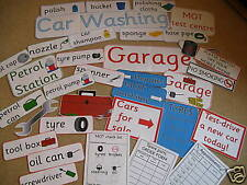 GARAGE & CAR WASH & PETROL role play CD pack -EYFS / KS1, outdoor play