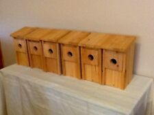 6 BLUEBIRD BIRD HOUSES NEST BOX CEDAR WOOD WOODEN HAND MADE