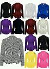 New Women Crop Frill Shift Slim Fit Peplum Blazer Jacket Coat Ladies Size 8-24