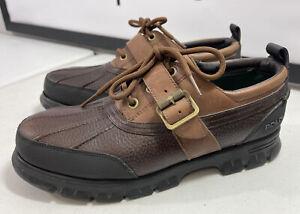 Men's Polo Ralph Lauren Conquest Duck Low Boots Waterproof Boots Size 10.5D